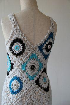 画像4: VINTAGEヨーロッパ古着ニットレース編みドレス