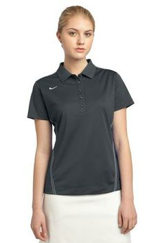 dbfdc84d Nike Golf Ladies Dri-FIT Sport Swoosh Pique Polo with logo - tailored for a  feminine fit with a five-button placket.