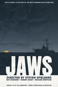 Jaws - Alternative movie posters by Matthew Thomas, via Behance