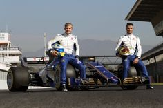Marcus Ericsson and Pascal Wehrlein with Sauber C36-Ferrari - #SauberF1Team #25YearsInF1 #F1 #Formula1 #FormulaOne #motorsport