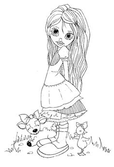 coloring for adults - kleuren voor volwassenen Coloring Pages For Girls, Colouring Pics, Cool Coloring Pages, Free Printable Coloring Pages, Coloring Sheets, Coloring Books, Doodle Pages, Creation Art, Copics