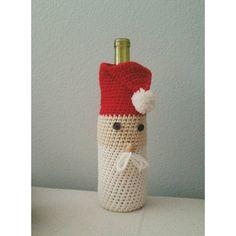 PDF PATTERN Crochet Santa Wine Bag Holiday Party Gift by LanadeAna