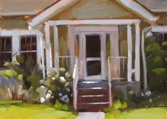 """Home Sweet Home - SOLD"" - Original Fine Art for Sale - © Carol Marine"
