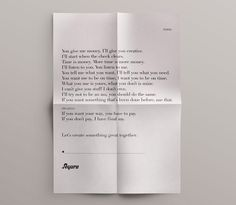"""The work for hire terms at Segura, a design firm in Chicago. My three favorite bits: 1. """"Time is money. More time is more money."""" 2. """"If…"""
