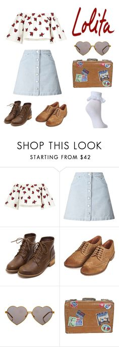 """Nymphets first day of boarding school"" by nympheting ❤ liked on Polyvore featuring House of Holland, Miss Selfridge, Barbour, Wildfox, lolita, nymphet and nymph"