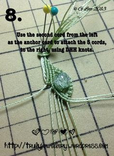 All at Sea Micro Macrame Bracelet tutorial picture 8