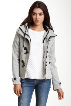 Sebby Hooded Marled Toggle Fleece Jacket by Assorted on @HauteLook