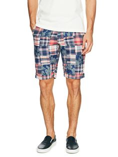 Oxford-Lined Madras Patchwork Shorts by Brooks Brothers Red Fleece at Gilt USD 49