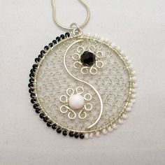 Image result for NEW YIN YANG GUITAR SILVER NECKLACE