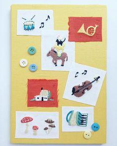 ブレーメンの音楽隊『annasの小さな刺しゅう図案』(ブティック社)より。 刺繍布がたくさんたまってきてしまったら、お気に入りだけチョイスして、一枚の布にリボンやボタンを貼ってデコレーションしてもかわいいです☆ ・ ・  #手仕事 #handmade #handembroidery #刺繍 #手刺繍 #embroidery #embroidered #needlework #手芸  #ステッチ #stitching  #刺しゅう #暮らしを楽しむ #ハンドメイド #자수 #вышивка #broderie #ししゅう #日々 #暮らし #丁寧な暮らし #日々の暮らし #手作り #ハンドメイド #手芸 #ハンドメイド #暮らしを楽しむ #ブレーメンの音楽隊 #ブレーメン #キノコ #きのこ #バイオリン #ホルン