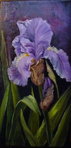 Art: Iris in Purples  by Artist Barbara Haviland