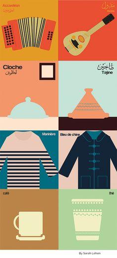 "Like Paris vs New-York by Vahram Muratyan. It's Paris vs Alger for the newspaper ""El Watan"""