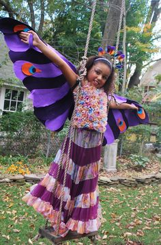 A no-sew exotic bird costume:  http://kids.baristanet.com/2011/10/ask-holly-making-an-exotic-bird-costume/