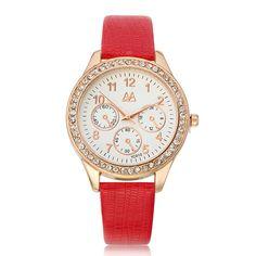 Sale 16% (4.99$) - ZUIMEIER YC010 Student Women Fashion Crystals Dial Wrist Watch