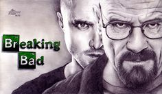 Dibujo de la serie Breaking Bad con ambos protagonistas, hecho a lapiz y lapices de colores, me gusta como juega con luces y sombras.  Autor: Pablo Fernández Rivera