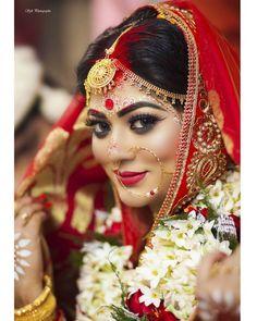 Bridal Makup, Bridal Makeup Images, Bengali Bridal Makeup, Bengali Wedding, Bengali Bride, Weeding Makeup, Middle Eastern Makeup, Bride Portrait, Colors
