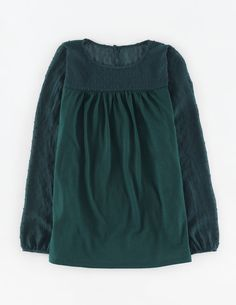 Dobby Panel Top WL972 Long Sleeved Tops at Boden