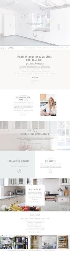 Semi-custom website design by Rachael Earl Design. Original template by TONIC. Custom Website Design, Creative Business, Logo Design, Template, The Originals, Vorlage