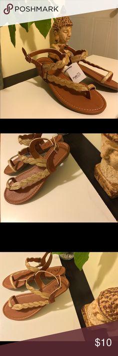 Golden tan Summer Sandals! Brand new, Rue 21 Sandalias Rue21 Shoes Sandals