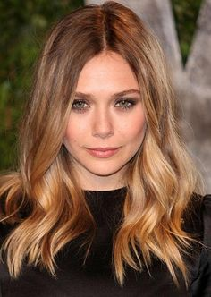 Elizabeth Olsen. Got a similar cut now, just longer, with highlights, but I wish my hair would behave as good as hers, so sleek.
