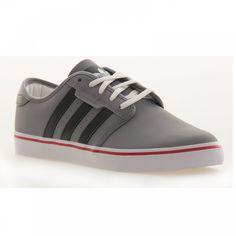 Adidas Originals Adidas Men's Seeley Shoe (Grey/White/Red) - Adidas Originals from Loofes UK