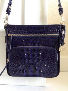 Brahmin Cleo Crossbody Ink Blue Croco Melbourne Leather H45151 $195 00 | eBay