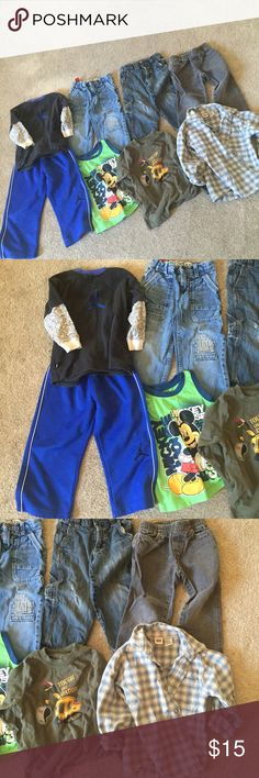 Huge bundle boy clothes 3T 💫💕👍❤️💋‼️ 3 jeans 1 sport outfit 1 shirt 1 tank top 1 long armed shirt ‼️💕💫❤️💋👍😜 Other