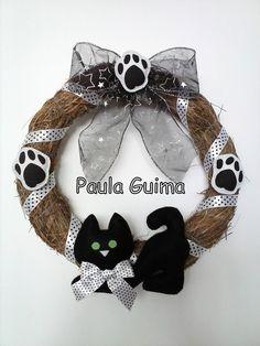 Guirlanda permanente Gato preto e patinhas