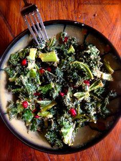 Recipe: Vegan 'Parmesan' Kale & Pomegranate Salad from @Skylor Powell