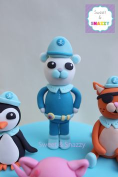 Octonauts cake toppers fondant figurines by Sweet Snazzy https