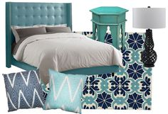 Bohemian Blues - fun for a bedroom or guest room