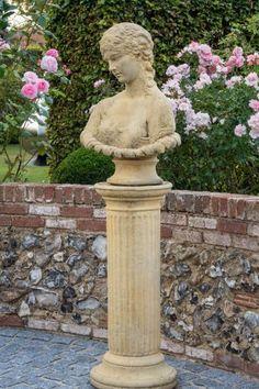 Garden sculpture ideas #middlesizedgarden #backyard #garden #gardening Sculpture Ideas, Garden Sculpture, Stone Statues, Modern Traditional, Garden Ornaments, Backyard, Gardening, Contemporary, Outdoor Decor