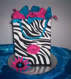 """100% edible """"Goodie Bag"""" Birthday cake created by Sweet Pea Cake Co in Colorado Springs (hashtags: #birthday #cake )"""