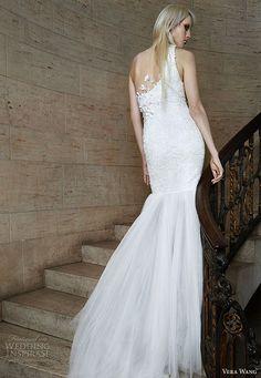 Sheath Wedding Dress : Vera Wang spring 2015 #bridal collection: one shoulder mermaid #wedding dress #w