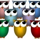 Colorful, neat, owl graphics to add to your work!!!  Credit needs to be given to 3rd Grade Crusade, Thank you!!!  Hope you like them!!!...