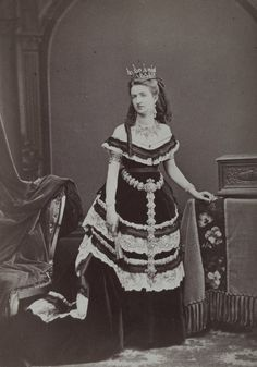 Queen Margherita of Italy. Early 1870s.
