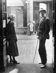 James Joyce & Sylvia Beach - Paris 1920's