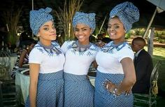 Wedding Shweshwe Hochzeiten 2019 Traditionelle Kleider ⋆ The Perfect Dress Pattern Article Sotho Traditional Dresses, South African Traditional Dresses, Traditional Wedding Attire, African Traditional Wedding, Traditional Weddings, Traditional Outfits, African Wedding Attire, African Attire, African Dress