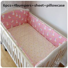 Promotion! 6pcs Mickey Mouse Newborn cot crib bedding set baby cot sets baby bed bumper set,include (bumper+sheet+pillow cover)