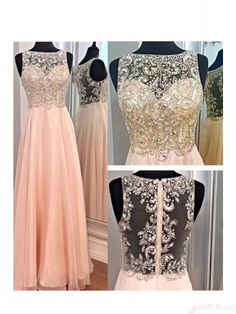 Beading Bodice Prom Dresses,Long A line Prom Dresses,Evening Dresses #SIMIBridal #promdresses