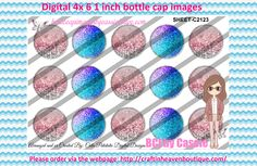 1' Bottle caps (4x6) Digital editable C2123    PLEASE VISIT http://craftinheavenboutique.com/AND USE COUPON CODE thankyou25 FOR 25% OFF YOUR FIRST ORDER OVER $10! #bottlecap #BCI #shrinkydinkimages #bowcenters #hairbows #bowmaking #ironon #printables #printyourself #digitaltransfer #doityourself #transfer #ribbongraphics #ribbon #shirtprint #tshirt #digitalart #diy #digital #graphicdesign please purchase via link http://craftinheavenboutique.com