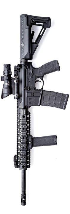BCM - Bravo Company USA Carbine with Magpul attire and a  Trijicon ACOG. By Stickman.