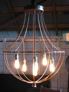 Industrial Chandelier with Edison Bulbs by SnodonIron on Etsy Industrial Chandelier, Industrial Light Fixtures, Farmhouse Chandelier, Diy Chandelier, Industrial Lighting, Edison Lighting, Contemporary Chandelier, Deck Lighting, Rustic Lighting