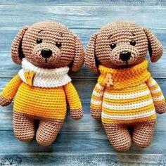 Amigurumi dog in sweater crochet pattern