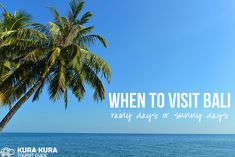The Best Time to Visit Bali #bali #weather #wetseasonvsdryseason