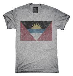 Retro Vintage Antigua And Barbuda Flag T-Shirts, Hoodies, Tank Tops