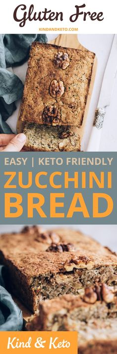 One thing thats easy to miss in the vegan keto world is tasty moist low-carb bread. This beautiful eggless vegan zucchini bread is gluten-free and a proud member of any vegan weight loss meal plan. One thing thats easy to miss in the vegan keto Vegan Keto Diet, Vegan Keto Recipes, Zucchini Bread Recipes, Vegan Zucchini, Vegan Snacks, Vegan Gluten Free, Free Recipes, Healthy Recipes, Keto Friendly Desserts