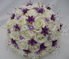 black purple and silver weddings purple and silver wedding flowers purple and silver wedding receptions purple and silver wedding bouquets p. Purple Wedding Centerpieces, Purple Wedding Bouquets, Bride Bouquets, Flower Bouquet Wedding, Bridesmaid Bouquet, Orchid Bouquet, Tall Centerpiece, Flower Bouquets, Rose Wedding