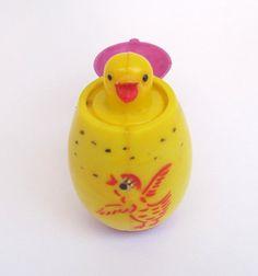 Vintage Easter Pop Up Squeeky Toy Egg Chick Easter by teresatudor, $6.00