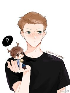 Hunhan fanart ♡ (see logo on pict for credit)<<< is it just me or does this also look like supernatural?